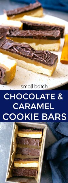 Copycat Twix Bars, Millionaire Shortbread bars. Chocolate Caramel Cookie Bars, a small batch of cookie bars made in a loaf pan. makes 6 cookie bars! #copycat #copycatrecipes #twix #caramelbars #cookies #cookiebars #millionaireshortbread #shortbread @eaglebrand