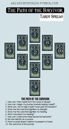 The Path Of The Survivor Tarot Spread.