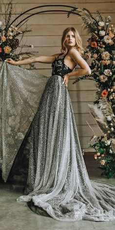 24 Gothic Wedding Dresses: Challenging Traditions ❤ gothic wedding dresses a line sequins lace top secretwatersphoto #weddingforward #wedding #bride