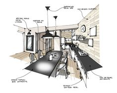 sketch up architecture projects Drawing Interior, Interior Design Sketches, Interior Design Boards, Sketch Design, Sketch Up Architecture, Architecture Portfolio Layout, Interior Architecture, Architecture Models, Archi Design