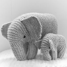 We Like Knitting: Mother and son elephant - Free pattern