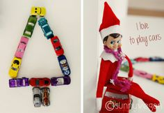 Elf on the Shelf - car Xmas tree