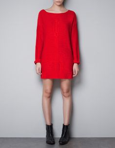 low-cut back knit dress (Can't decide if I should get it in red or white)