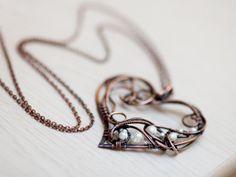 Pendant heart wire pendant wire jewelry by UrsulaJewelry, $73.00