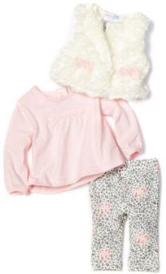 Vitamins Baby-Girls Newborn Animal Print 3-Piece Swirly Fur Pant Set $14.73