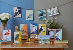 Birds cards and designs by British designer and illustrator Lorna Syson #cards #greeting #birddesigns Bird Cards, Bird Drawings, Geometric Background, Bird Design, Art Reference, Fabric Design, Charity, Stationery, Greeting Cards