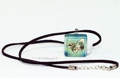 Stunning!! Butterfly Glass Tile Jewelry, Butterfly Necklace, Butterfly Glass Tile Pendant Necklace by LMRPhotography for $15.00