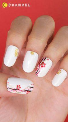 Pretty Nail Art, Cute Nail Art, Nail Art Diy, Beautiful Nail Art, Food Nail Art, Dope Nail Designs, Nail Art Designs Videos, Nail Art Videos, Nail Art Flowers Designs
