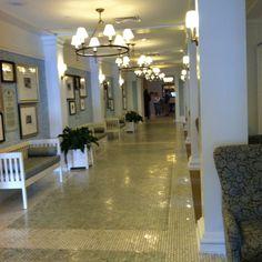 Favorite hallway at Bedford Springs... Relaxing....