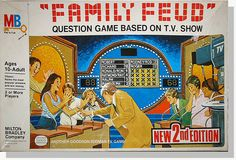 Vintage Family Feud 2nd edition board game