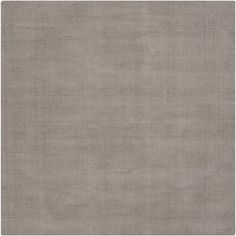 Hand-crafted Solid Grey Casual Ridges Wool Rug (8' Square), Size 8' x 8'