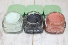 L'Oreal Pure Clay Masks - GLAMGLOW Dupes http://pinkparadisebeauty.blogspot.co.uk/2016/07/loreal-pure-clay-masks-review-photos.html