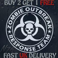Zombie Outbreak Response Team Skull Decal Vinyl Sticker For Car Or Laptop   eBay