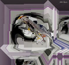 https://flic.kr/p/vTrTD2 | Espaço tridimensional com lagarto
