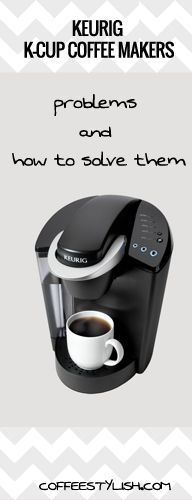 Keurig won't brew a full cup, water doesn't come out of the machine, grounds in coffee, Keurig turns on/off by itself, Keurig add water issue or it's not working at all. Read more about the most common Keurig k-cup coffee maker problems and how you can solve them (without spending a $)