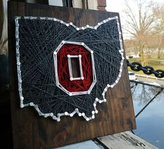 OSU String Art Wall Decor by OheyO on Etsy