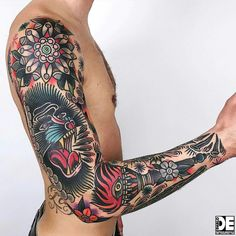 Traditional sleeves old school tattoo sleeve, leg sleeve tattoo, leg ta Tribal Tattoos, Tattoos Mandala, Tattoos Geometric, Leg Tattoos, Body Art Tattoos, Old School Tattoo Sleeve, Leg Sleeve Tattoo, Best Sleeve Tattoos, Tattoo Sleeve Designs