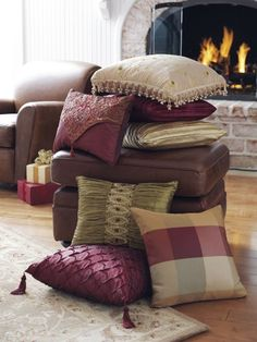 my house will have tons of pillows to make it feel warm and comfy