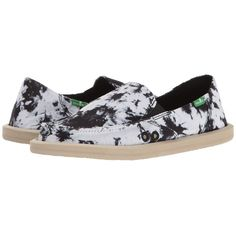 af52830d985 Sanuk Donna Tie-Dye (Black Tie-Dye) Women s Slip on Shoes ( 55) ❤ liked on  Polyvore featuring shoes