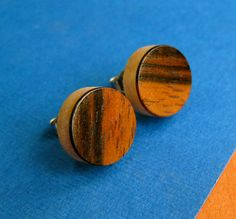Teak Earrings, Wooden Post Earrings, Teak Wood Studs, Mens Jewelry of Unisex