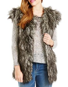 Women's Clothing | Jackets & Coats | Faux Fur Vest | Lord and Taylor