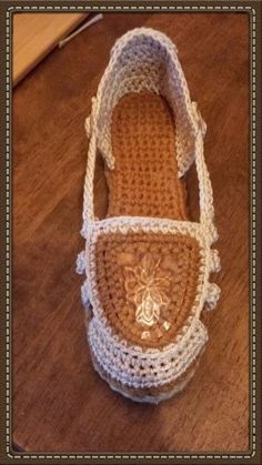 """Crocheted pop can and tab espadrilles by """"SRO """" Austin"""