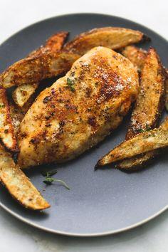 Sheet Pan Garlic Parmesan Chicken & Potatoes