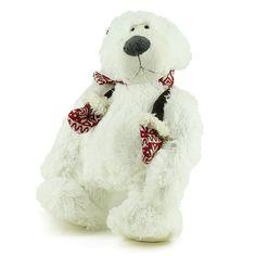 Urso Pelúcia Polar Cachecol Luvas Vermelhas Luvas Vermelhas d78a117fdc0ea