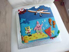 #planes en #spongebob #taart van #marsepein