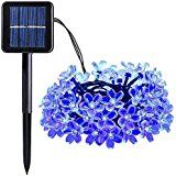 AOTOSOLO Blossom Solar String Lights 23ft/6.8m 50LED Waterproof Outdoor Holiday Decoration Lighting for Indoor... christmas deals week