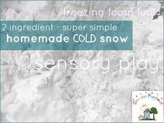 Creative Playhouse: Homemade Cold Snow Sensory Play