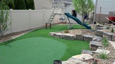 Putting green with a playground area!