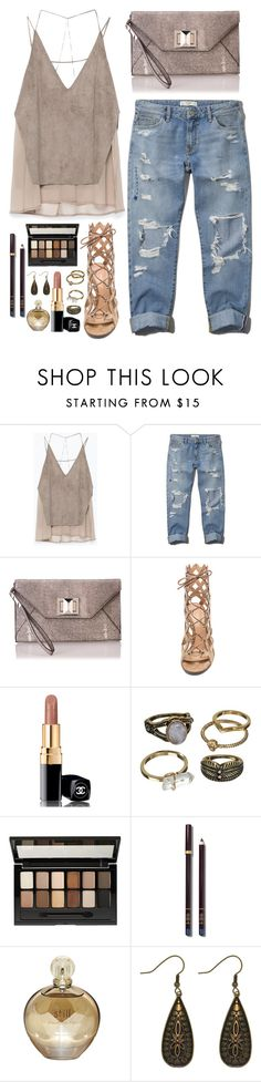 """""""Untitled #1661"""" by kitkat12287 ❤ liked on Polyvore featuring Zara, Abercrombie & Fitch, BCBGMAXAZRIA, Gianvito Rossi, Chanel, Mudd, Maybelline, Tom Ford and Carolina Glamour Collection"""