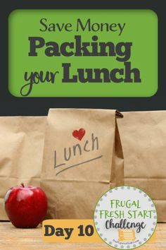 If you have a habit of eating out for lunch, grabbing something to eat on the go, or sending your kids with lunch money, then you have lots money-saving potential in packing your lunch. Here are some ideas to get you started! Make Easy Money, Ways To Save Money, Money Tips, Money Saving Tips, Lunch Snacks, Lunches, Lunch Money, Frugal Living Tips, Homemaking