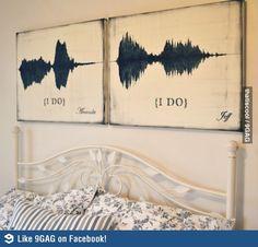 The soundwaves of saying ''I do''.