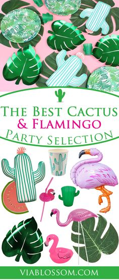 Fabulous Flamingo and Pineapple party ideas and decorations for an amazing palm springs party or a fun Summer party!