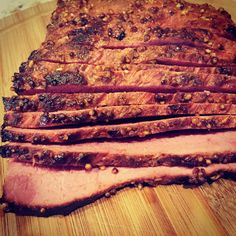 Smoking a brisket can be somewhat intimidating…especially if you have screwed one up before. There's nothing worse than tending to the grill for several hours just to have a chewy hunk of meat that you can't serve. Follow this Smoked Brisket recipe to avoid that. Trim the excess fat off the brisket. I literally trimmed …