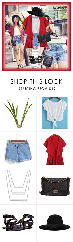 """6/2"" by dinna-mehic ❤ liked on Polyvore featuring OKA, Chanel, Versace, Yves Saint Laurent and romwe"