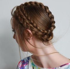 60 Breezy Crown Braid Hairstyles for Summer Great Hairstyles, Summer Hairstyles, Braided Hairstyles, Braided Updo, Hair Hacks, Hair Tips, Hair Lengths, Hair Inspiration, Your Hair