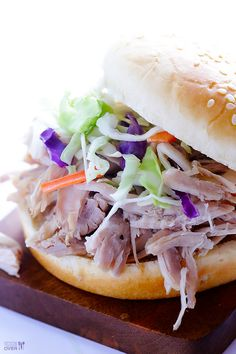 Slow Cooker Apple Cider Pulled Pork | gimmesomeoven.com