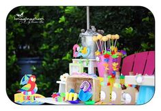 Summer Pool Party Birthday Party Ideas | Photo 1 of 27 | Catch My Party