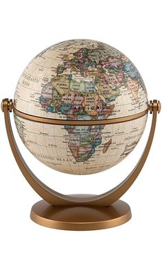 Stella Nova Political Antique Ocean Swivel and Tilt Globe, 4-Inch Best Price