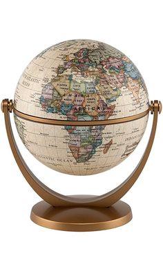 Stella Nova Political Antique Ocean Swivel and Tilt Globe, 4-Inch Best Price