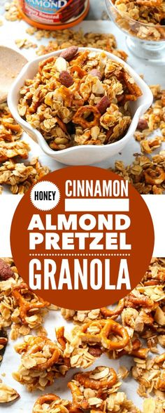 Sweet, salty, sticky, crunchy granola, bursting with cinnamon/vanilla flavor and lots of fun texture. Some of the BEST granola I have ever tasted!