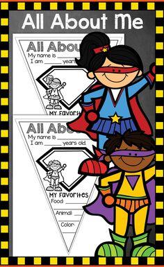All About Me Superhero, Back to School, Superhero Theme