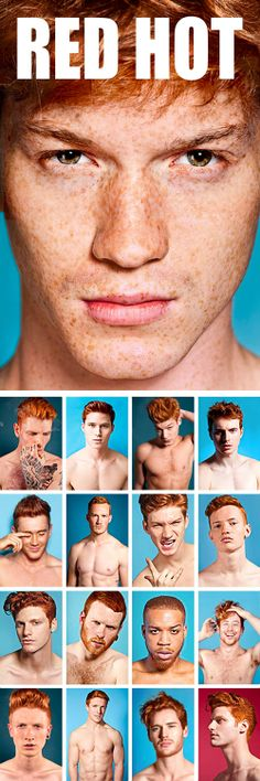 """RED HOT"" project by Thomas Knights  Showcasing a positive outlook on the red-haired male, and aiming to re-brand the ginger male stereotype along the way."