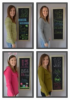 Weekly Maternity Chalkboard photos. @Paige Goorhuis  this is what I wanna do!