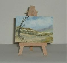 aceo miniature art painting original (ref F226) £3.50