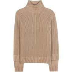 Michael Kors Collection Silk and Mohair Sweater ($1,920) ❤ liked on Polyvore featuring tops, sweaters, brown, beige top, beige sweater, silk sweater, michael kors and beige silk top