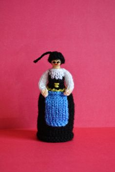 Iceland National Costume Peg Doll Doll by EdithGraceDesigns